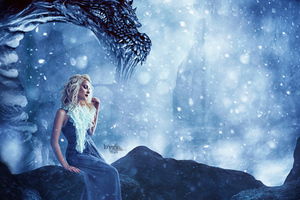 Daenerys Targaryen Dragon Fantasy Art Wallpaper