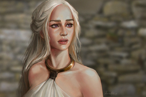 Daenerys Targaryen Fanart Wallpaper
