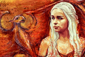 Daenerys Targaryen Game Of Thrones Artwork Wallpaper