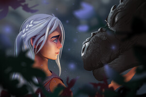 Daenerys Targaryen With Dragon Art