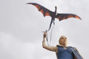 Daenerys Targaryen With His Dragon 4k