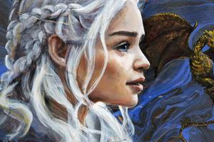 Daenerys Targayen Artwork 5k Wallpaper