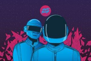 Daft Punk Minimalism 2 Wallpaper