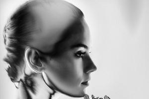 Daisy Rildey Monochrome Wallpaper