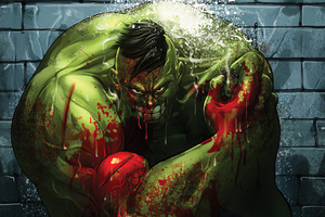Damaged Hulk Smile Wallpaper