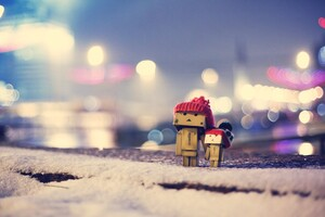 Danbo In Winter Dress Wallpaper