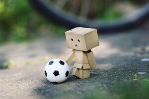 Danbo Soccer Fan Wallpaper