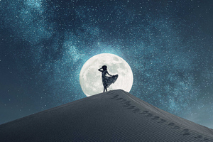 Dance In Moon Light Wallpaper