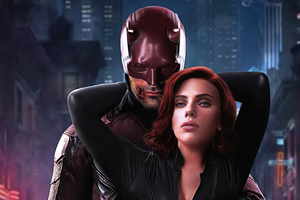 Daredevil And Black Widow 4k Wallpaper