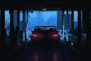 Dark Car Vehicle Neon