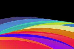 Dark Color Waves Abstract 4k Wallpaper