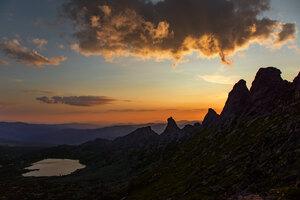 Dark Evening On Mountains