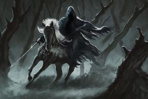 Dark Horse Rider 4k Wallpaper