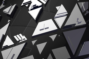 Dark Mirrors Abstract 4k Wallpaper