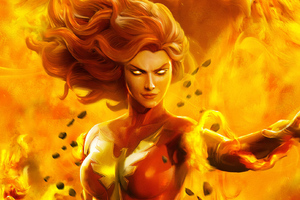 Dark Phoenix Art Wallpaper