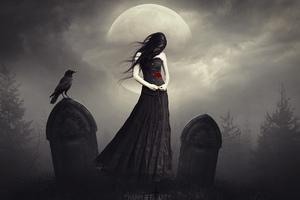 Dark Princess With Rose