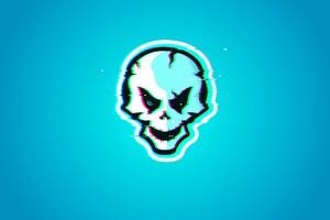 Dark Skull Glitch 12k