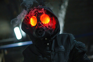 Dark Smoke Mask Hoodie Boy 5k Wallpaper