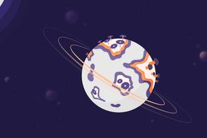 Dark Solar Space Sun Planet 5k