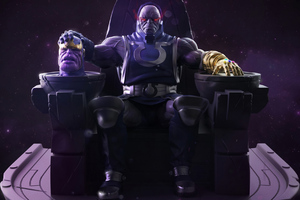 Darkseid Vs Thanos Wallpaper