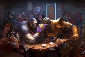 Darkseid Vs Thanos Artwork