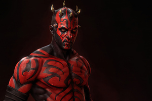 Darth Maul Mandalorian Inspire 4k Wallpaper