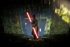 Darth Maul Star Wars Battlefront 2 8k Wallpaper