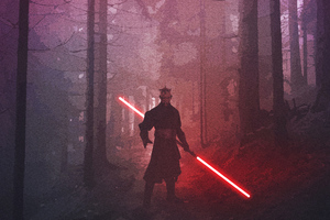 Darth Maul Star Wars Fanart Wallpaper