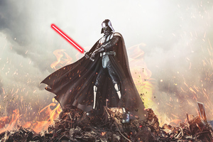 Darth Vader Force 4k Wallpaper