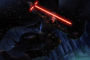 Darth Vader Laser Wallpaper