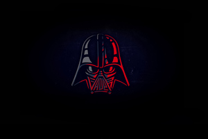 Darth Vader Minimal 4k Wallpaper