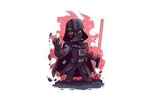 Darth Vader Minimal Art 4k