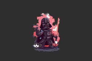 Darth Vader Minimal Art Wallpaper