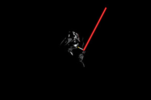 Darth Vader Minimalism 4k Wallpaper