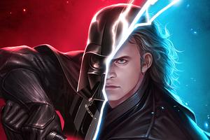 Darth Vader Split Art