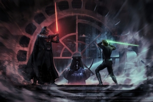 Darth Vader Vs Luke Skywalker Wallpaper