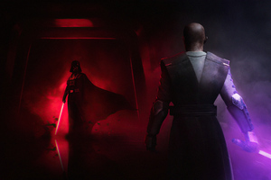 Darth Vader Vs Mace Windu Wallpaper