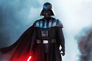 Darth Vader With Red Sword 4k