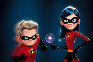 Dash And Violet In The Incredibles 2 Movie