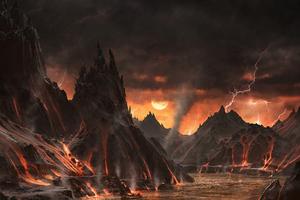 Dashara Lava Hell 5k Wallpaper