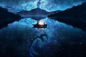 Date Night Boat Wallpaper