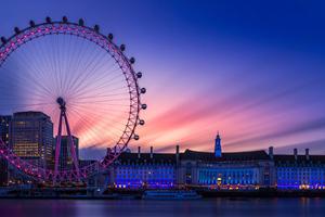 Dawn At The London Eye 4k Wallpaper