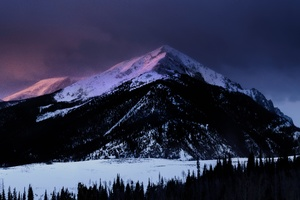 Dawn Mountain Nature Snow Winter