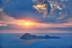 Dawn Rock Island Sea