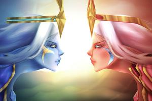 Dawnbringer Vs Duskbringer Soraka League Of Legends 5k Wallpaper