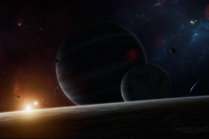 Day And Night Scifi 5k Wallpaper