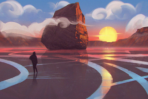 Day Landscape Digital Art Wallpaper