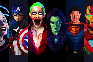 Dc And Marvel Artwork