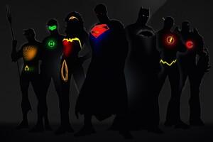 Dc Comics Superheroes Minimalism Wallpaper