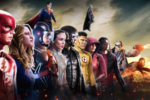 Dc Cw All Superheroes Wallpaper
